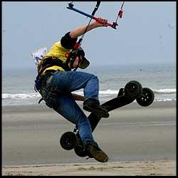 Kite Landboarding - Lewis Wilby