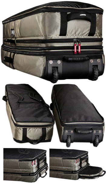 F-One Kiteboarding Airforce Kitesurf Travel Board Bag with wheels