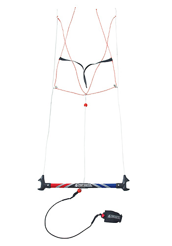 how to fly a power kite with a bar