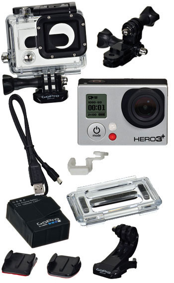 gopro hero 3 plus silver edition helmet camera video. Black Bedroom Furniture Sets. Home Design Ideas