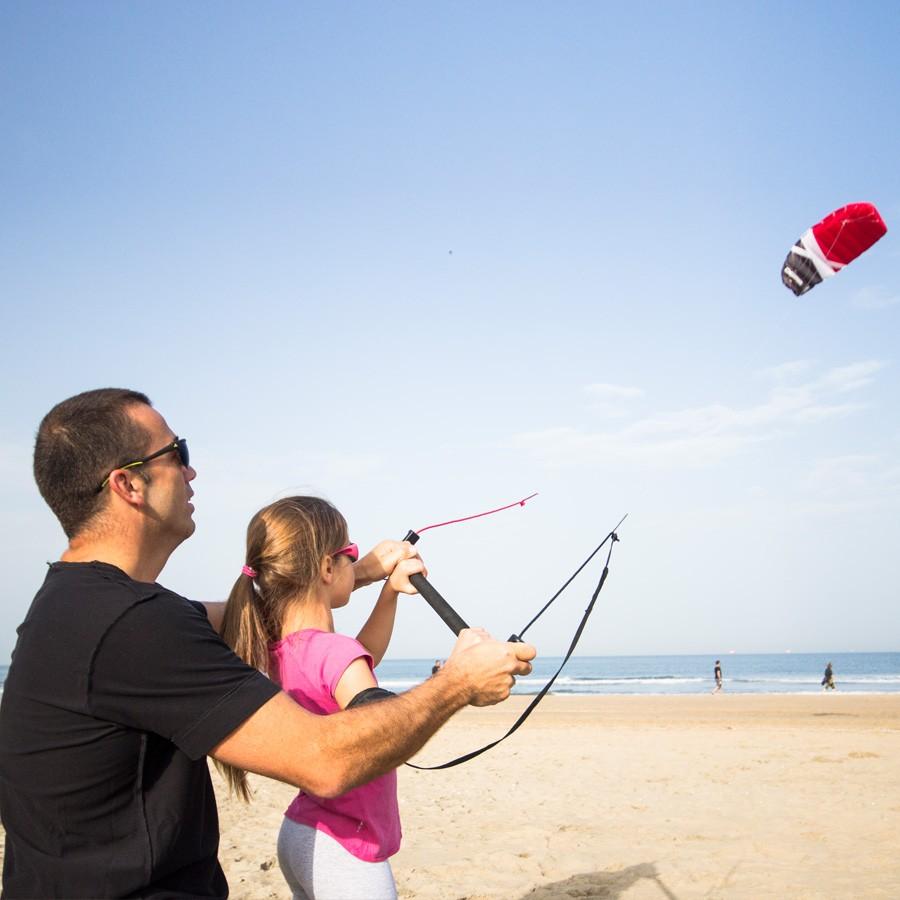 Cross Kites Boarder Trainer 2-Line Kite with Control Bar Power Kites Traction Buggy Buggies Landboarding Kite Surf Safety Gear Powerkiteshop Power Kite Shop Equipment UK - Powerkiteshop