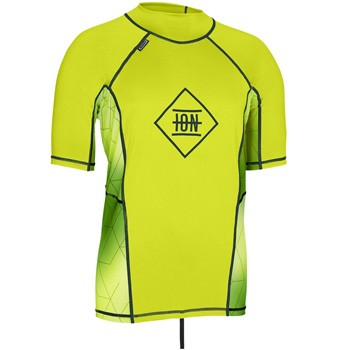 ION Kiteboarding Maze Short Sleeve Rash Vest - Lime