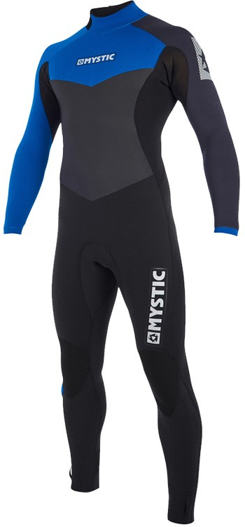 Mystic Kiteboarding Drip Back Zip 5/3 Wetsuit - Blue